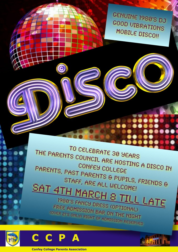Parents Council is inviting Parents, Past Parents, Past Pupils, Staff and Friends to join DJ on 4th March